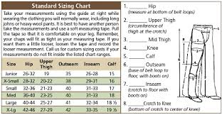 The Buckle Size Chart Basic 3 Buckle Western Chinks Chaps Chinks