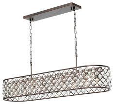 crystal drop chandelier rectangular oil