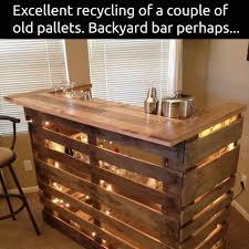 diy pallet bar. DIY Wood Pallet Bar More Diy R