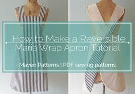 Japanese Apron Pattern Impressive The Maria Wrap Apron Reversible Tutorial Maven Patterns