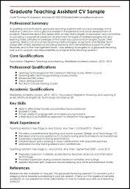 Teaching Assistant Resume Sample Substitute Teacher Resume Examples