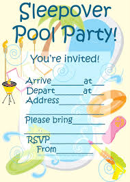 How To Make A Sleepover Invitation Invitations For Sleepover Party Sleepover Pool Party Invitation