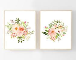 watercolor floral wall art