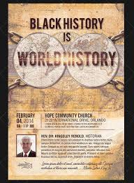 Black History Month Church Flyer Templates | Graphicmule