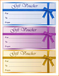 printable gift voucher template samples three color thogati