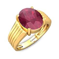 Ruby Stone Gold Ring Design Carl Ruby Ring