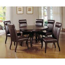 hilale furniture nottingham dark walnut dining table and six chairs