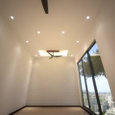 false ceiling design for hall with two fans