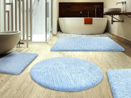blue bathroom rug sets