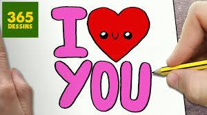 Comment Dessiner I Love You Fille Kawaii Tape Par Tape Dessins