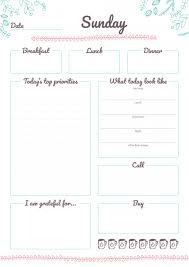 Printable Weekly Planner Templates Download Pdf