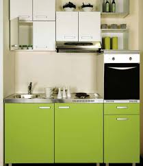 Modern Small Kitchen Modern Green Colours Small Kitchen Interior Design Ideas Small