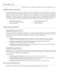Resumee Examples Administrative Assistant Sample Executive Office