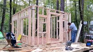 diy cabin plans self build log tiny in the woods