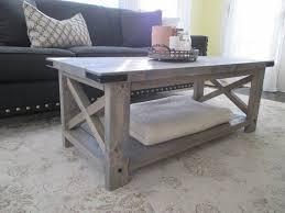 coffee table rustic grey