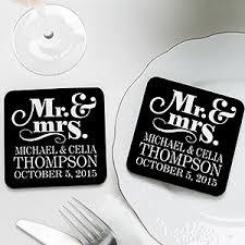 Wedding Coasters Personalized Wedding Favor Coasters Happy Couple