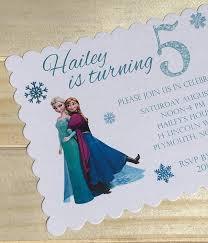 Set Of 10 Girls Birthday Party Invitations Frozen Elsa Anna And Olaf Birthday Invitations
