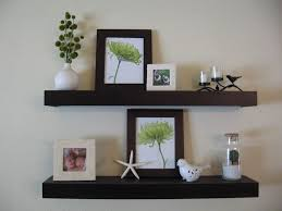 Decorations:Astonishing Brown Wooden Floating Wall Shelves Design Ideas  Astonishing Brown Wooden Floating Wall Shelves