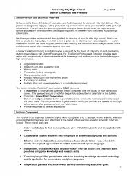College Resume Example For High School Seniors Cover Letter