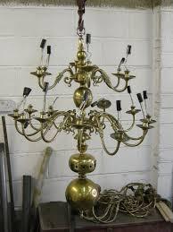 30 arm chandelier before restoration