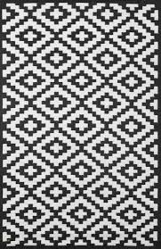 black and white indoor outdoor rug