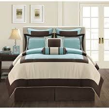 cool comforter sets with modern brown and white also calm blue