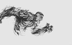 Hulk Illust Anger White Minimal Hero 4k ...