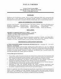 Collection Of Solutions Production Supervisor Resume Format Fresh