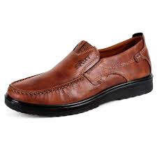 menico large size men comfy casual microfiber leather oxfords shoes brown 8 5 cod