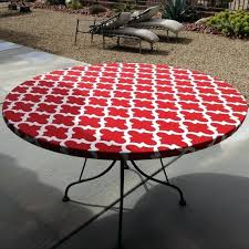 staggering round fitted vinyl tablecloth 60 inch