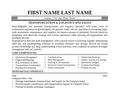 click here to download this transportation logistics specialist resume template http logistics resume