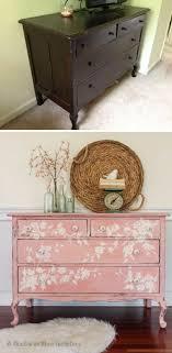 pink shabby chic furniture. pink floral dresser makeover shabby chic furniture r