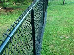 painting chain link fence design