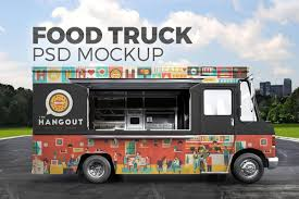 Food Truck Design Food Truck Mockup 39 Food Truck Psd Truck Design Food