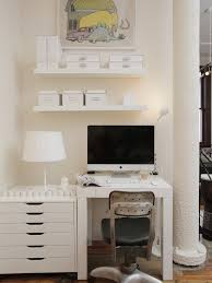 small office storage. Unique Office Small Office Storage   White Table With Drawers Lamp Wall  Mounted Shelving  For