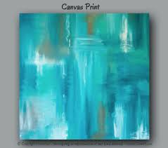 zoom on blue brown wall art with large wall art teal abstract canvas art print teal home