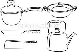 Kitchen Utensils Drawing sitezco