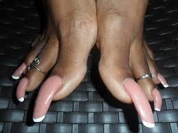 Fetish foot long nail