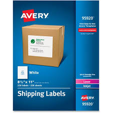 avery sheet labels avery full sheet white shipping labels inkjet laser 8 1 2 x 11 white 250 box