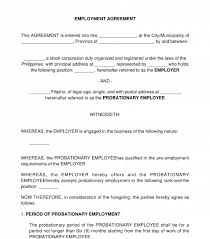 Mark nicholson will be hired by zen. Employment Contract Sample Template Word And Pdf