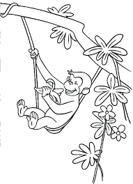 Curious George Coloring Pages Photos Birthday Print Free Printable ...
