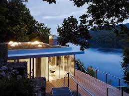 View modern house lights Luxury Modern Home Design The Lake House Lovely View Modern Home With Unique Top Roof Interior Design Modern Home Designs Lovely View Modern Home With Unique Top Roof