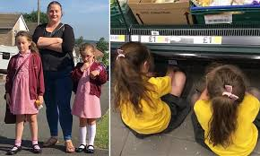 Mother makes <b>2 daughters</b> sit on the floor in silence in the Tesco ...