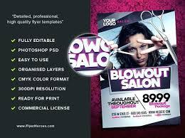 Hair Salon Brochure Template Blowout Flyer Samples Flyers Free