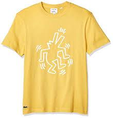 Lacoste Mens Keith Haring Big Logo Tee Amazon Com