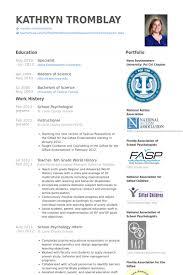 Psychology Sample Resumes Cv Template Psychology Resume Format