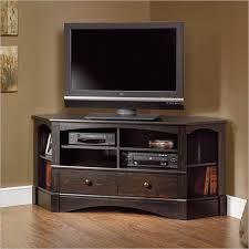 corner tv stand intended for tv in antiqued black stands and design 15