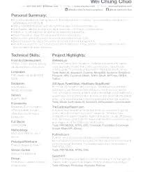 Front End Developer Resume Stunning Web Developer Cv Format Resume Template Doc Deve