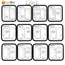 Iphone 7 Screw Size Chart 12pc Professional Guide Pad For Iphone Xsmax Xr Xs X 8p 8 7 7p 6 6s 6p 6sp Magnetic Screw Keeper Chart Mat Phone Repair Tools