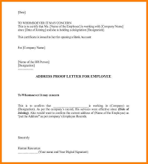 10 Address Confirmation Letter From Employer Global Strategic